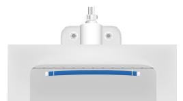 仮止めした双方のセットピンとプレートを一緒にゆっくり押し上げる。バイオプレートの上部と洗浄孔の間を5〜10mmにセットする。